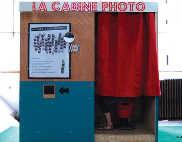 Cabine Photo réalisée par A4 designers pour le festival Casbah Boutaric organisé par Zutique Productions aux Grésilles à Dijon