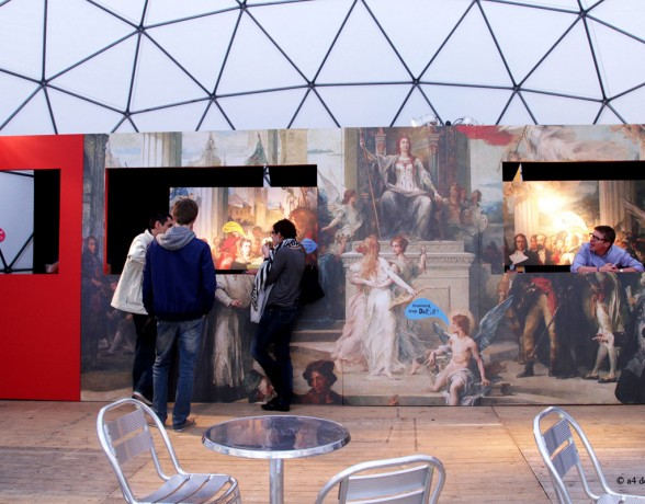 Bar éphémère aux gloires de la Bourgogne sur le festival Dièse 8 à Dijon