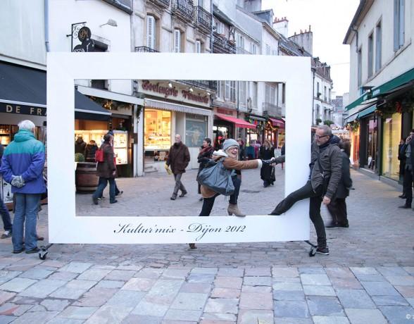 Carte postale géante pour l'événement Kulturmix à Dijon