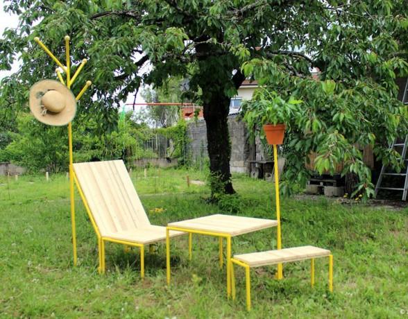 Mobilier à planter réalisé par A4 Designers et Eclectik Scéno à l'atelier Ernest à Dijon