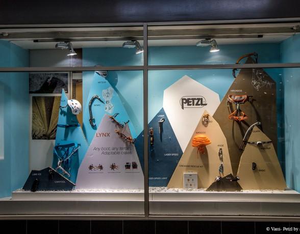 Vitrine d'hiver réalisée par A4 designers pour Petzl