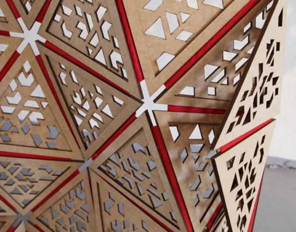 Trico est un paravent adaptable à tout type de séparation, imaginé par Ange-Lyne Janssen du collectif A4 Designers
