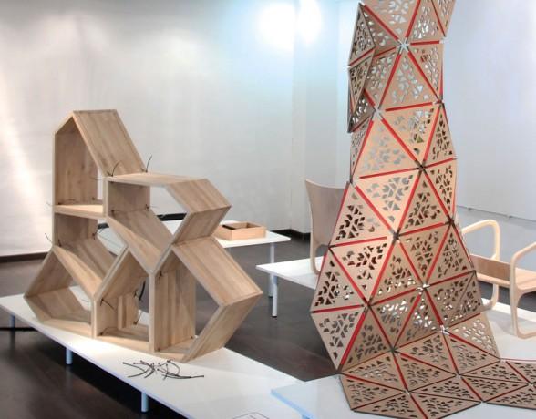 Mobilier modulable imaginé par Delphine Merle du collectif A4 Designers