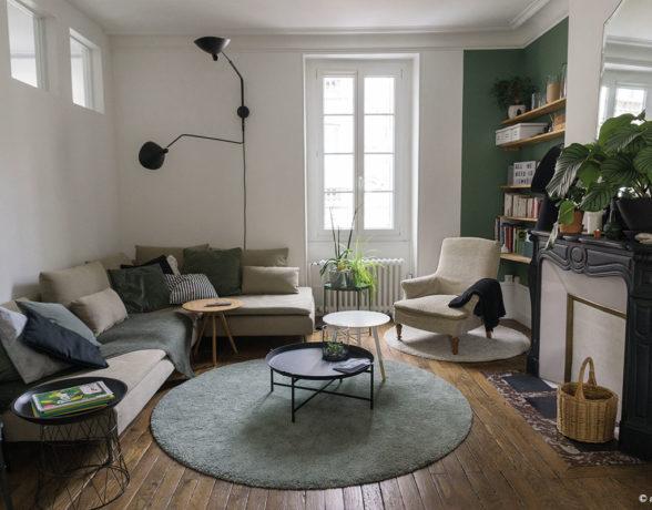 Rénovation, aménagement et décoration de ce bel appartement au cœur de Dijon par A4 designers.