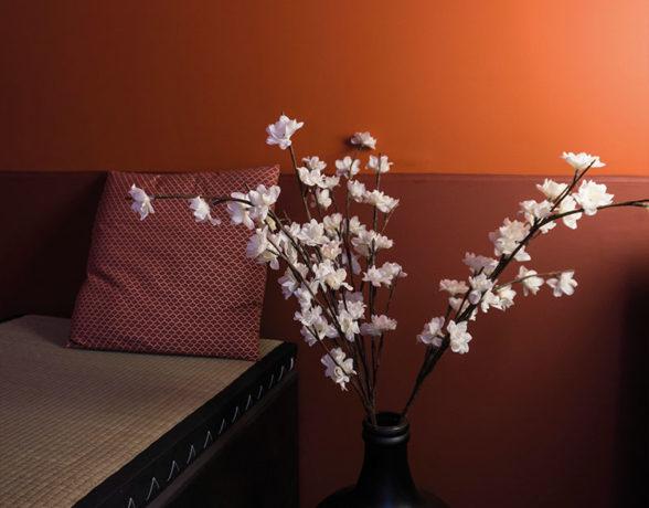 Agencement et décoration du restaurant japonais Aki Izakaya à Dijon par le collectif A4 Designers.