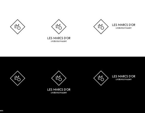 Le collectif a4 designers imagine une nouvelle identité visuelle pour le Lycée Les Marcs dOr.